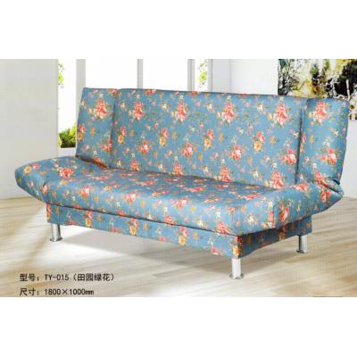 折叠沙发床  田园绿花