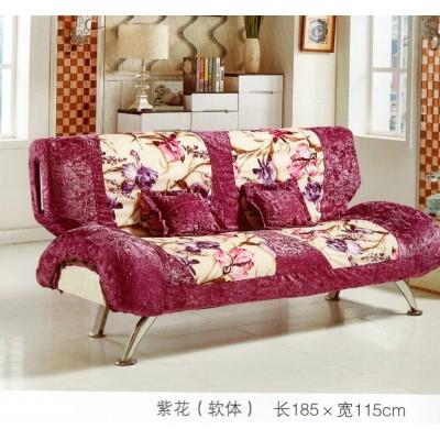 沙发床  紫花