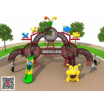 幼儿园户外钻洞攀爬儿童绳网拱笼玩具组合游乐设备体能训练器材