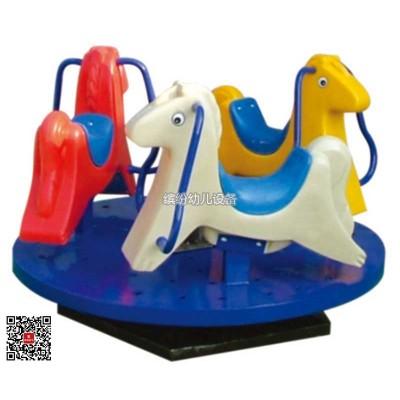 幼儿园室内外塑料长颈鹿跷跷板双人摇马宝宝木马儿童翘翘板玩具