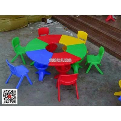 幼儿园桌椅套装美术培训班可拼接早教玩具桌儿童绘画拼搭学习书桌