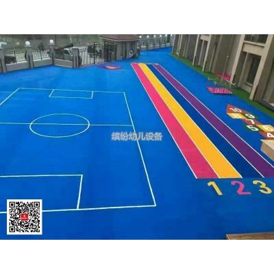 悬浮地板幼儿园室外防滑塑胶地垫户外篮球运动场地悬浮式拼装地板