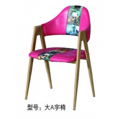 A字椅北欧铁艺餐椅餐厅椅子现代简约家用凳子成人实木椅子靠背椅
