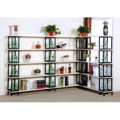 陈列柜展示架铁艺置物架书柜客厅组合储物架梯形收纳多层架子货架