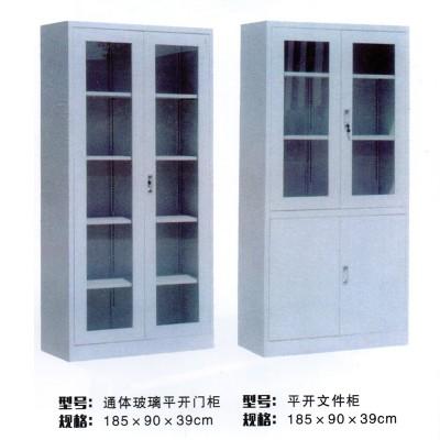 铁皮柜 开门式文件柜更衣柜橱斗柜档案资料柜零件储物柜带锁