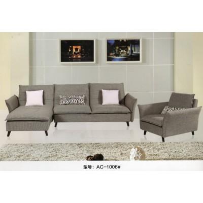 现代简约北欧风客厅棉麻布艺沙发可拆洗小户型L型转角三人贵妃床