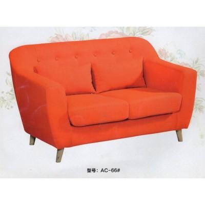 北欧可拆洗布艺单人 小户型双人 网吧咖啡厅酒店绿色沙发休闲椅
