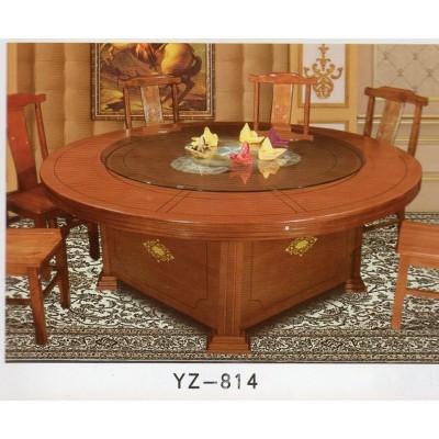 酒店电动餐桌大圆桌自动旋转20人玻璃转盘组合10人家用 饭店