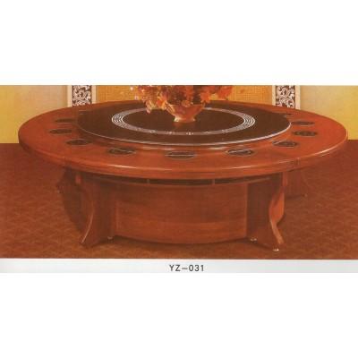 火锅桌子电磁炉一体饭店大圆桌餐桌15人无烟火锅店桌椅组合