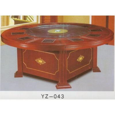 电磁炉火锅桌/酒店饭店餐桌/电动圆桌自动餐台大型餐桌大圆桌