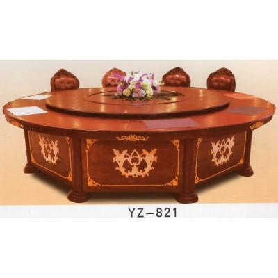 酒店餐桌手电动大圆桌饭店桌椅组合15人圆形自动旋转宴会桌子