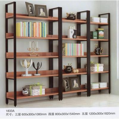 简约现代创意钢木书架展示架多层置物架客厅架子组合经济型省空间
