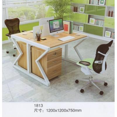 职员办公桌四人位员工电脑桌椅组合简约现代工作位屏风办公桌