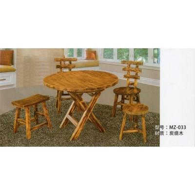 实木餐桌椅组合现代简约大圆桌酒店餐厅饭店桌椅