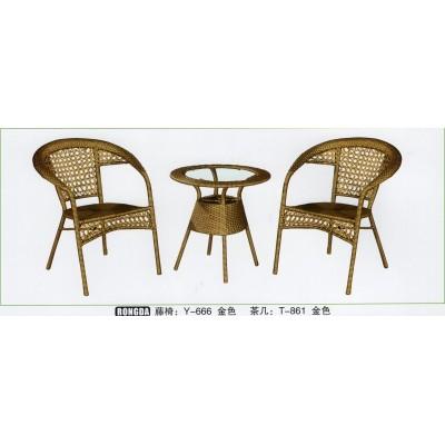藤椅三件套休闲组合藤编椅子室外简约露台小茶几户外庭院桌椅阳台