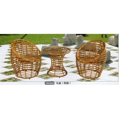 阳台桌椅组合藤椅三件套简约现代小户型休闲茶几桌户外休闲茶桌椅