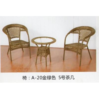 小型接待会客茶几桌办公区经理室简约迷你室内阳台玻璃桌椅组合