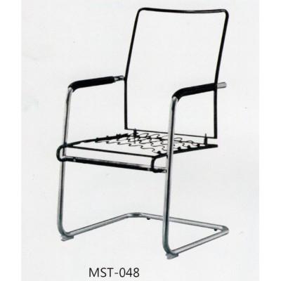 简约办公椅 电脑椅 职员椅 不锈钢椅子 钢架弓形椅