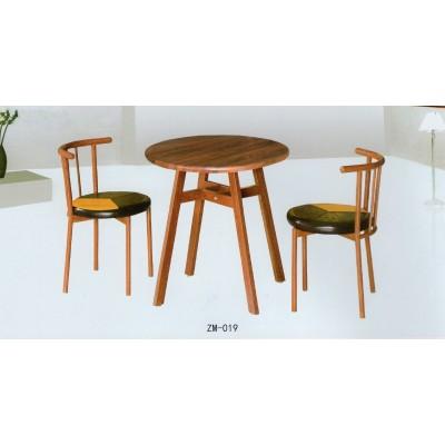 北欧风格圆形餐桌椅休闲门厅前台咖啡桌商务洽谈桌椅组合