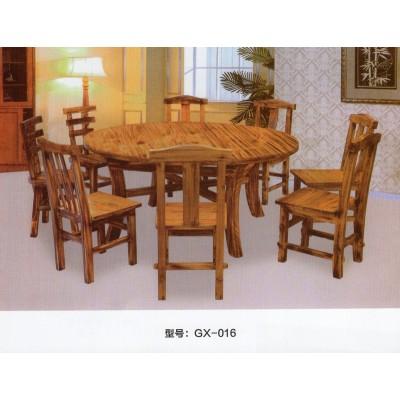 实木含二台火锅桌椅电磁炉液化气煤气灶火锅店餐桌椅组合