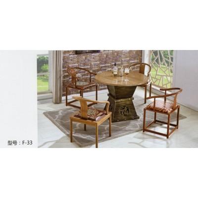 实木仿古大小圆桌棋牌桌休闲桌茶桌咖啡台餐桌