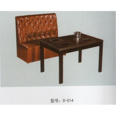 简约西餐厅卡座沙发咖啡厅桌椅奶茶店甜品店靠墙卡座沙发桌椅组合