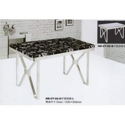 有机玻璃餐桌椅组合6人家用小户型饭桌子不锈钢烤漆长方形吃饭桌