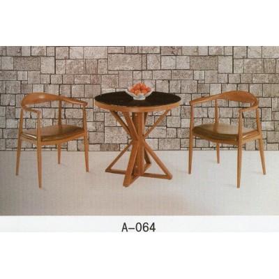 北欧休息区洽谈接待会客桌椅组合休闲咖啡厅桌椅简约实木小圆桌子