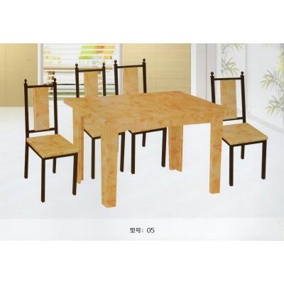 大理石餐桌椅组合 地中海西餐桌现代简约饭桌大理石小户型家用桌