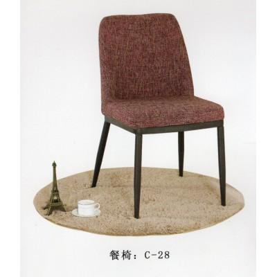 简约时尚北欧宜居美式复古铁艺布艺餐厅吧台书房咖啡厅椅子餐椅