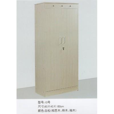 北欧两门置物架加粗白色木纹成人双人门拉手木衣柜