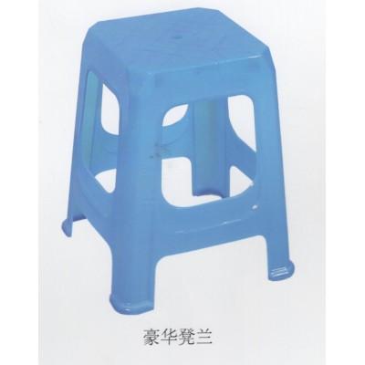 凳子塑料凳子加厚家用休闲椅餐桌凳子浴室凳换鞋凳成人高凳 蓝色