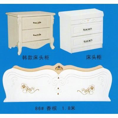 欧式简易床头柜简约白色床边柜美式韩式现代电话桌斗柜