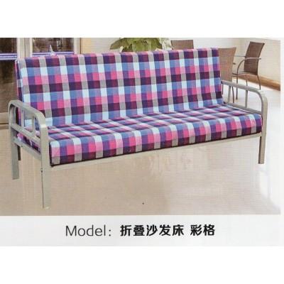 简易时尚多功能两用布艺沙发床1米午休床 三人座小户型