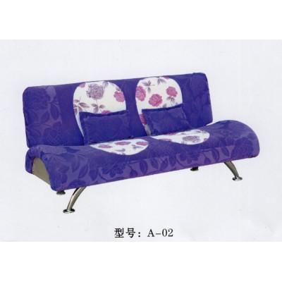 出租房家具简易布艺田园低价便宜懒人沙发床折叠可拆洗