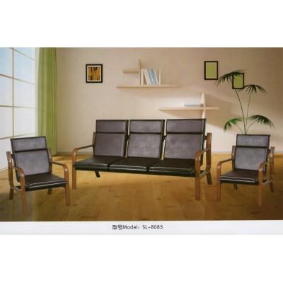 铁架办公沙发简易办公沙发茶几组合简约现代三人位沙发办公室沙发