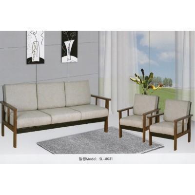 北欧实木沙发新中式小户型欧式客厅双三人日式布艺办公组合经济型