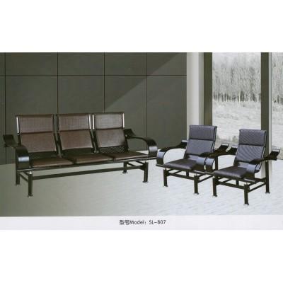 办公沙发茶几组合简约小户型出租屋会客铁架简易办公室三人皮沙发