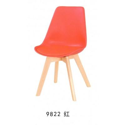 北欧伊姆斯家用餐椅 咖啡会议靠背实木椅子现代简约布艺洽谈桌椅