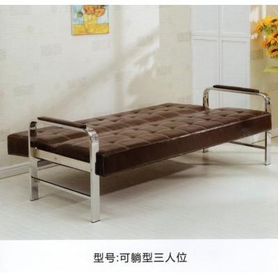 办公沙发茶几组合简约皮艺商务小户型出租屋办公室简易折叠沙发床