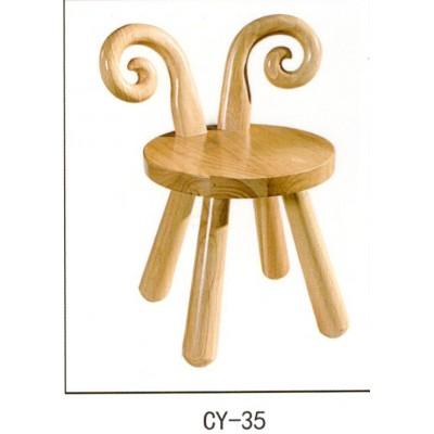 实木儿童凳子简单时尚穿鞋凳小兔凳子老榆木学习凳儿童家用卡通凳