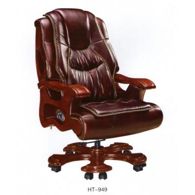 老板椅/真皮可躺座椅豪华大班椅转椅实木扶手牛皮办公椅子大班椅