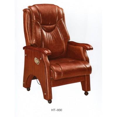 真皮老板椅可躺办公椅子实木牛皮按摩转四脚大班椅舒适电脑椅家用