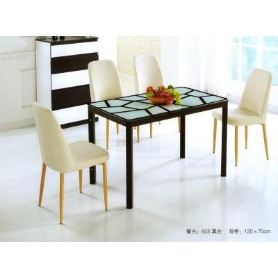 大理石餐桌椅组合 简约现代新中式饭桌实木烤漆餐桌子一桌六椅