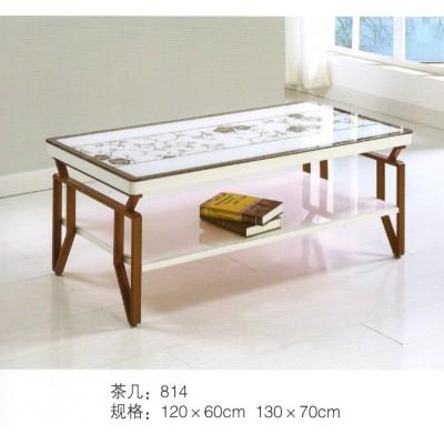 简约时尚大理石茶几客厅长方形小桌子办公室多功能双层泡茶桌
