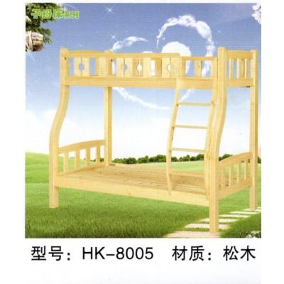 全实木高低子母床上下双层纯松木原木环保儿童床省空间母子床