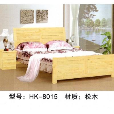 双人实木床橡木床 现代简约木头床 简单床全实木结婚大床