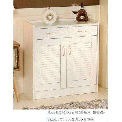 欧式烤漆实木玄关大容量鞋柜简约百叶鞋柜玄关门厅白色收纳储物柜