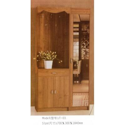 现代简约门厅柜衣帽柜玄关多功能带镜子带抽屉带衣架隔断柜储物柜