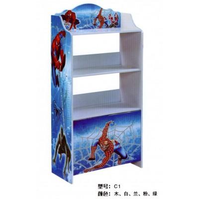 儿童书架简易落地置物架卡通学生组合书柜简约收纳储物柜创意书橱